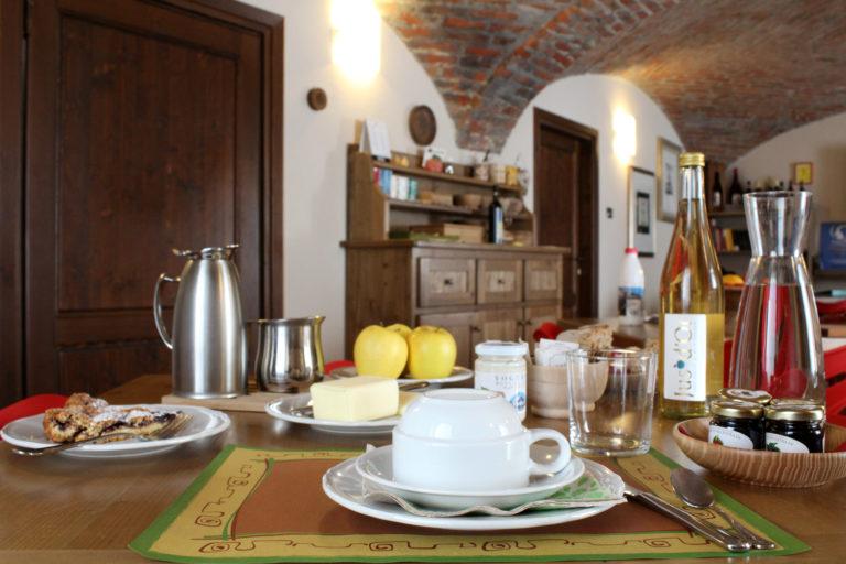 la colazione a La Pietra Felice